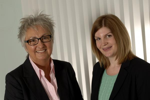 L-R: Ann Davies, one of the managing partners at Lamb Brooks with Laura Bell