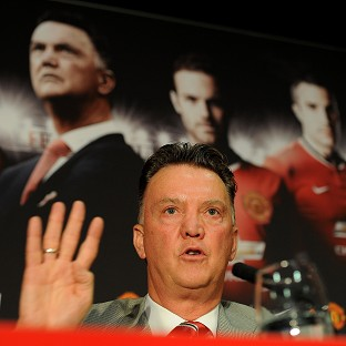 Louis van Gaal was impressed by what he saw from his Manchester United charges