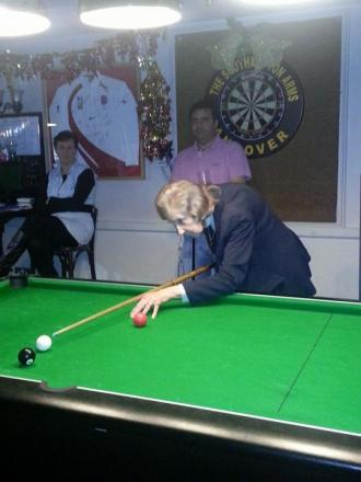 Betty Belshaw of Playstation pool team