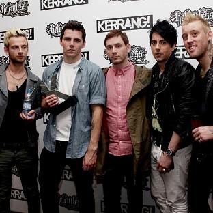 Members of the now defunct Lostprophets, from left, Lee Gaze, Stuart Richardson, Mike Lewis, Ian Watkins and Luke Johnson at an awards ceremony in 2010