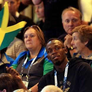 Usain Bolt watched Jamaica's Reggae Girlz in netball action on Wednesday after the furore over his