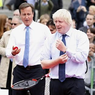 A game of tennis with the Prime Minister and the Mayor of London has been auctioned by the Tories for £160,000 to the wife of a former Russian government minister