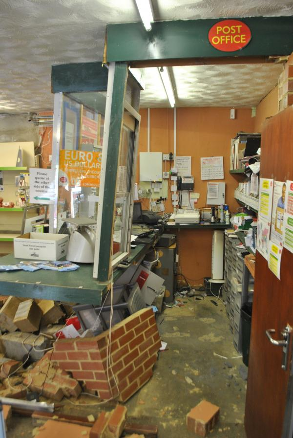 Post office wrecked as burglars strike again