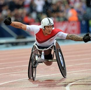 David Weir celebrates winning gold