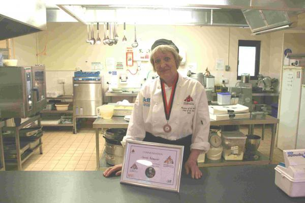 Janet Bolsover with her certificate