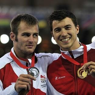 Steve Lewis, right, pipped team-mate Luke Cutts, left, to gold