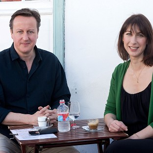 Prime Minister David Cameron and his wife Samantha are spending their summer holidays in Portugal this year