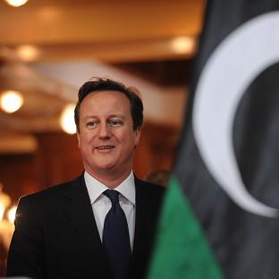 Prime Minister David Cameron pictured during a visit to Libya