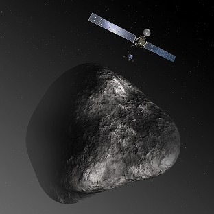 Space probe on course to meet comet