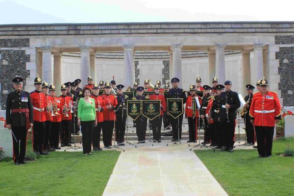 The band at the Tyne Cot cemetery