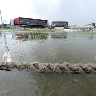 Heavy rain forced an early end to the second day of the fourth Test between England and India at Emirates Old Trafford