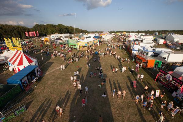 The BoomTown Fair site at Matterley Estate near Wi