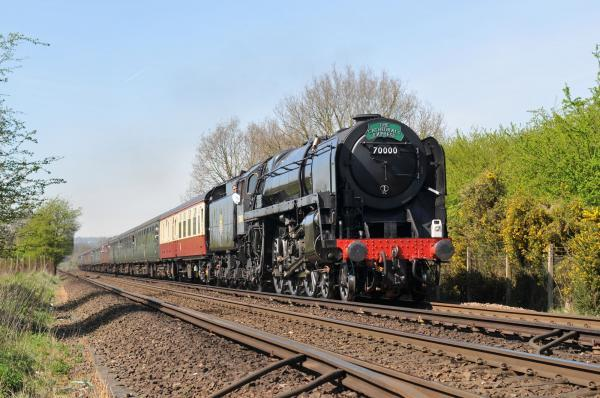 A 70000 Britannia steam train will connect the historic lines