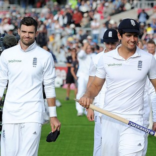 James Anderson, left, and Alastair Cook look set to be named in England's ODI squad