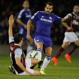 Cesc Fabregas, right, had an impressive game for Chelsea, who ran out 3-1 winners against Burnley