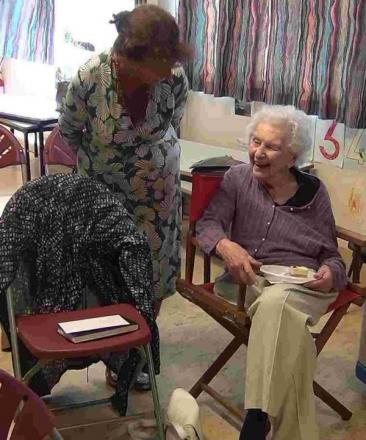 Joyce King celebrated her 100th birthday surrounded by friends at Winchester Art Club.