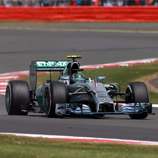 Nico Rosberg finished out in front at the end of first practice for the Belgian GP