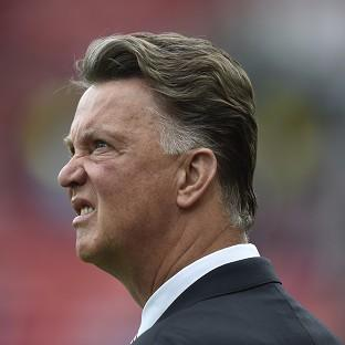 Louis van Gaal, pictured, was annoyed Ashley Young was no
