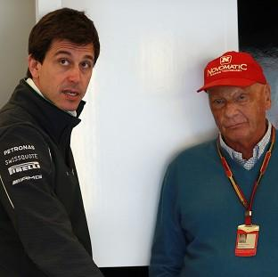 Mercedes' Toto Wolff, left, and Niki Lauda, right, are confident of resolving the crisis