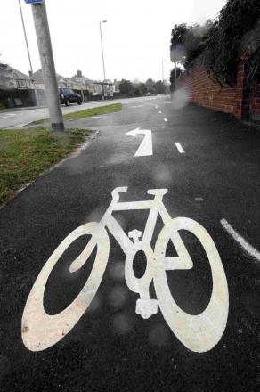 Anger at cycle path notices