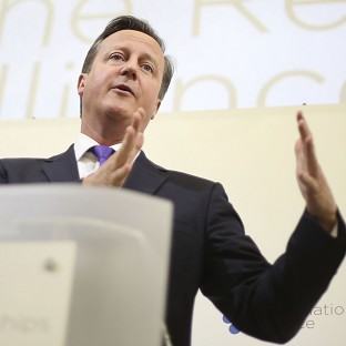 David Cameron has told business leaders that the UK is the 'greatest merger in history'