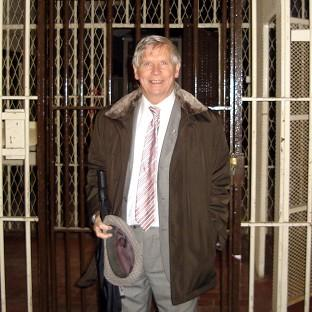 Donal Donnelly returns to visit the Crumlin Road jail in Belfast, 50 years after he escaped in 1960