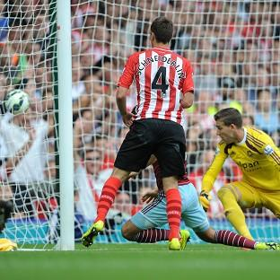 Morgan Schneiderlin scores his second goal of the afternoon
