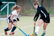 Anika Drage in action for Andover Hockey Club Ladies 1st team against Fareham
