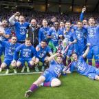 Andover Advertiser: Inverness celebrate with the trophy