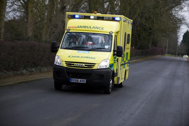 Pair taken to hospital after serious crash