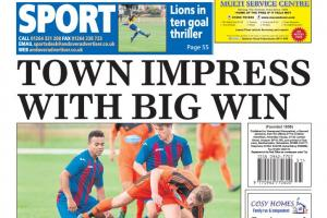 Back page preview: Town impress with big win