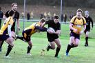 Action from Andover RFC's 37-0 away win at Basingstoke