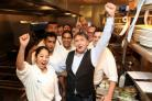 Raymond Blanc (centre, right) is among the celebrity chefs to set up shop in Wincester