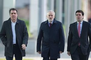 Jeremy Corbyn and Andy Burnham visit Hillsborough inquests