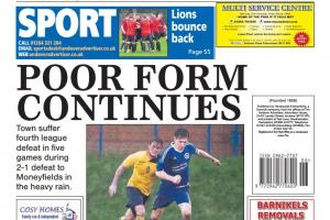 Back page preview: Poor form continues
