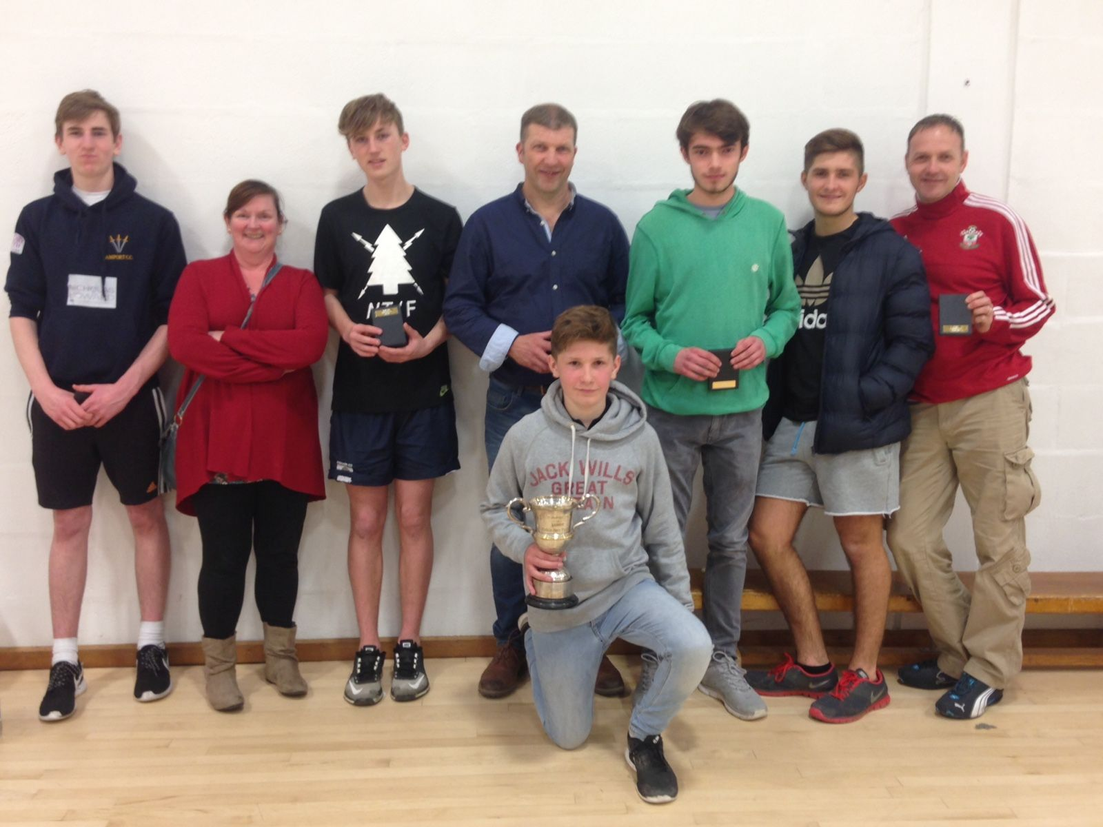 Winners: Amport Cricket Club indoor team with the Open Cup