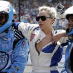 Andover Advertiser: Lady Gaga goes for a drive with Mario Andretti at the Indy 500