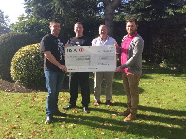 From left, Simon Potter, Neil Wells, Andy Kingman and Jack Bacon from Prostate Cancer UK