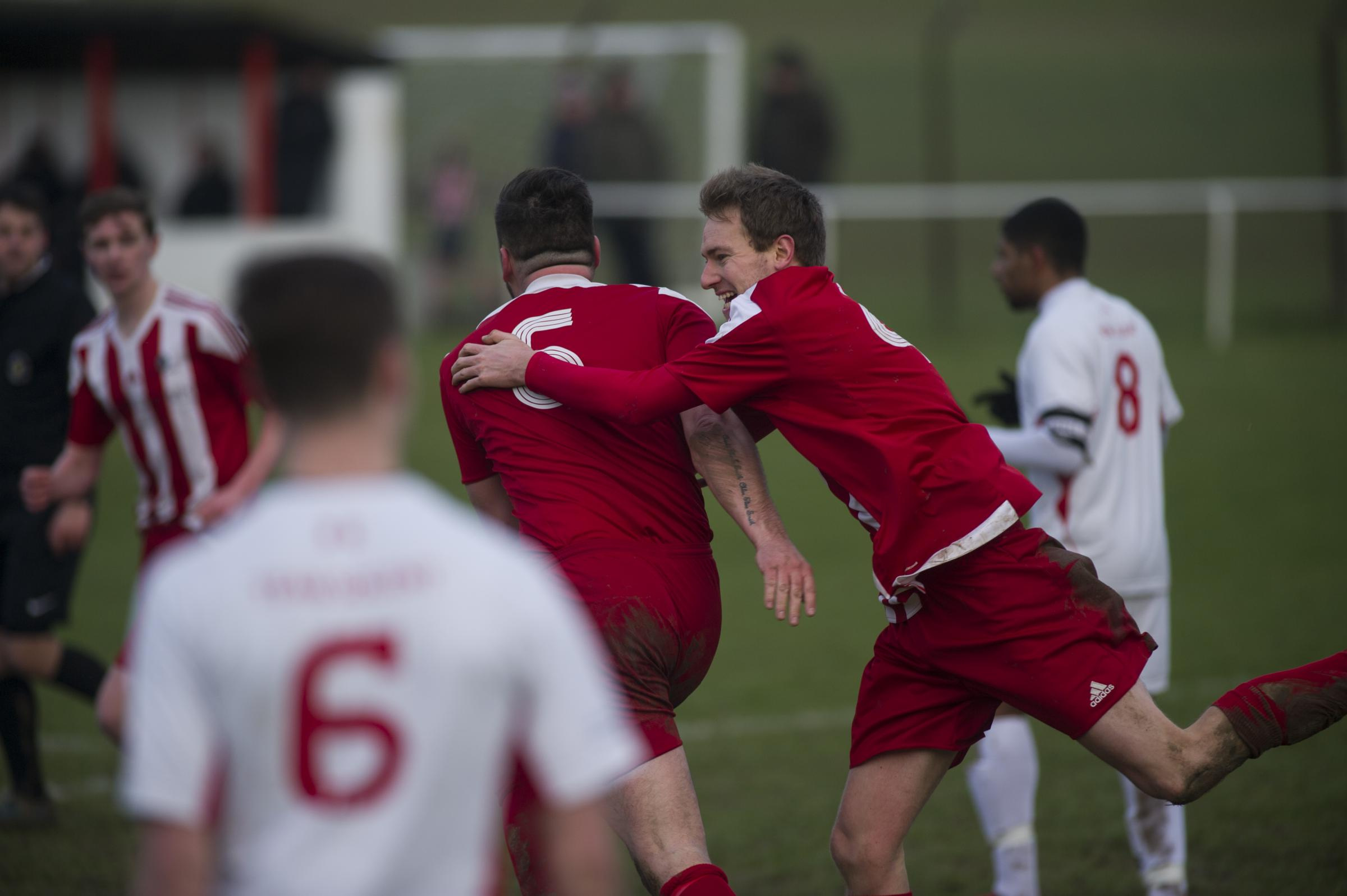 Action from Whitchurch United 2-2 draw with Team Solent - One of the four games in our gallery