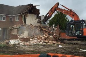 Demolition of redundant service family homes has begun at Ward Barracks following MOD investment in service accommodation