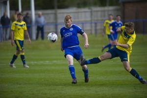 Andover Town's Liam Gilbert during his side's 1-0 defeat to Moneyfields at the Portway on Saturday - Dan Murphy