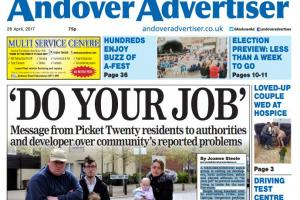Andover Advertiser front page preview - Friday 28 April 2017