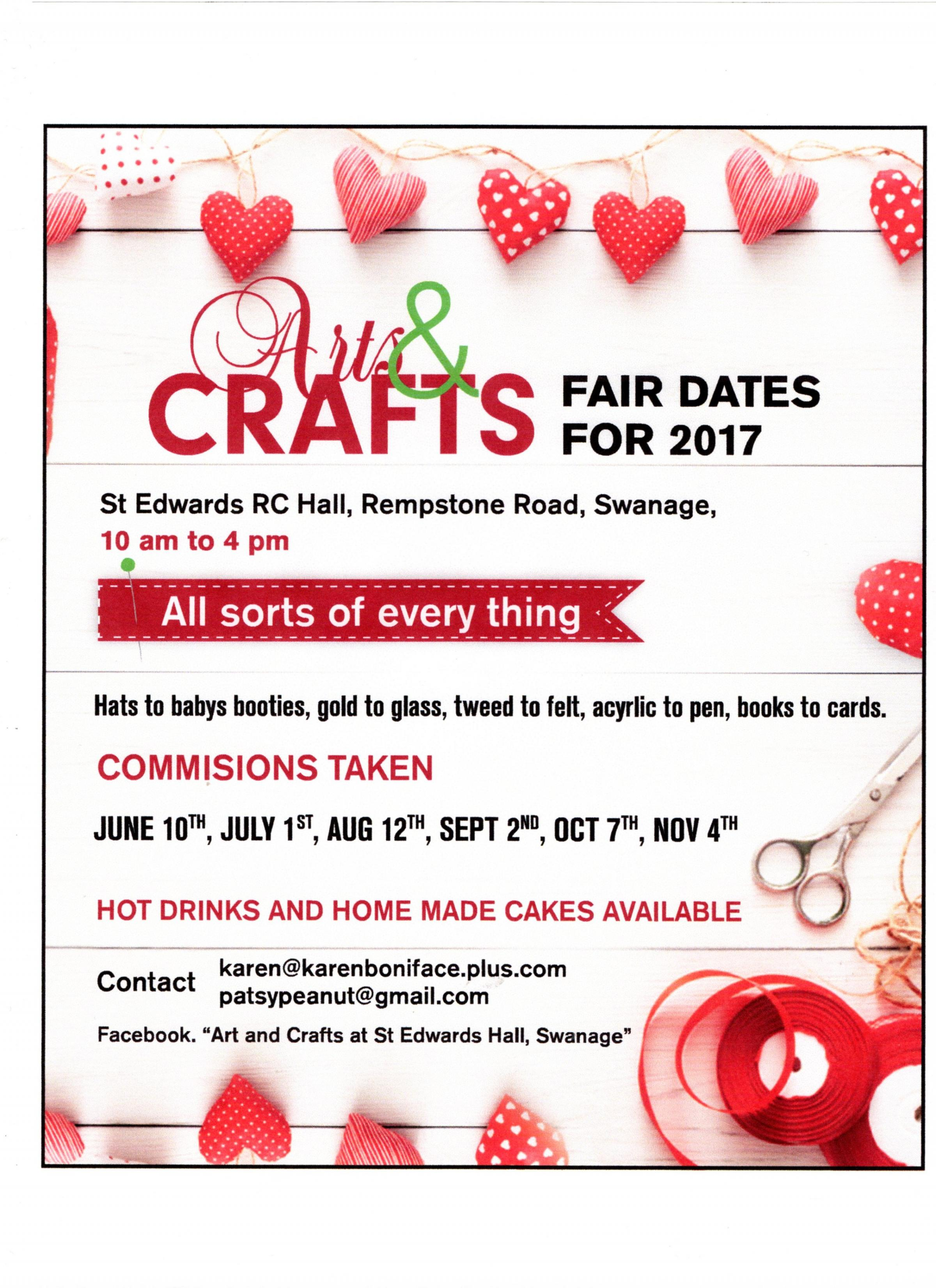 Art and Crafts Fair at St Edwards Hall, Swanage