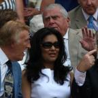 Andover Advertiser: Bruce Forsyth (left), his wife Wilnelia and Jimmy Tarbuck (right) during Day Three of the 2010 Wimbledon Championships at the All England Lawn Tennis Club, Wimbledon (PA)