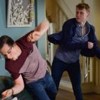 Andover Advertiser: EastEnders' Jay Brown and Ben Mitchell to lock fists in explosive fight (Kieron McCarron/BBC)