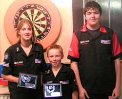 2007 Youth Open winners Charlotte Burgess, Liam Deavall and Sean White