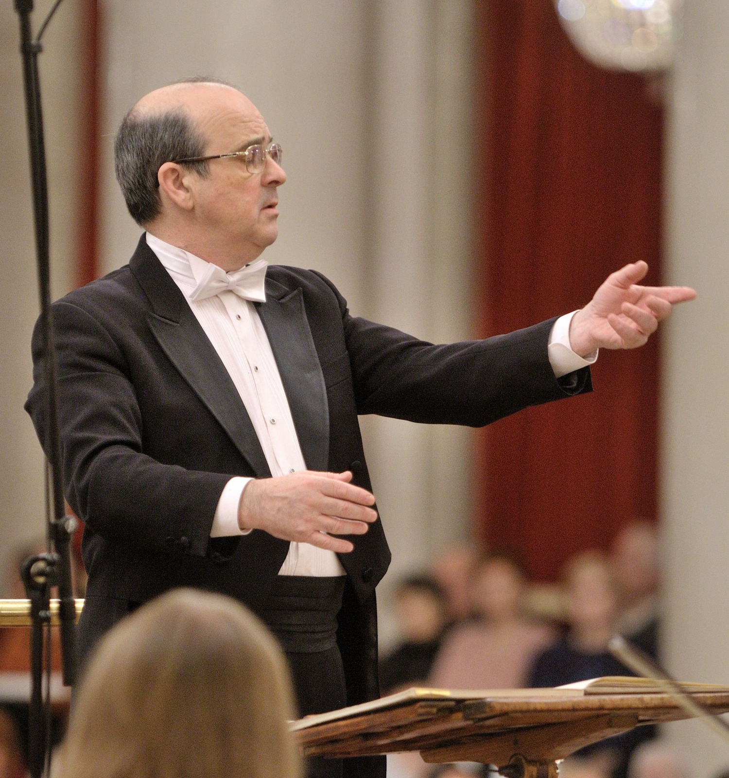 Conductor Vladimir Altschuler of the St Petersburg Symphony Orchestra