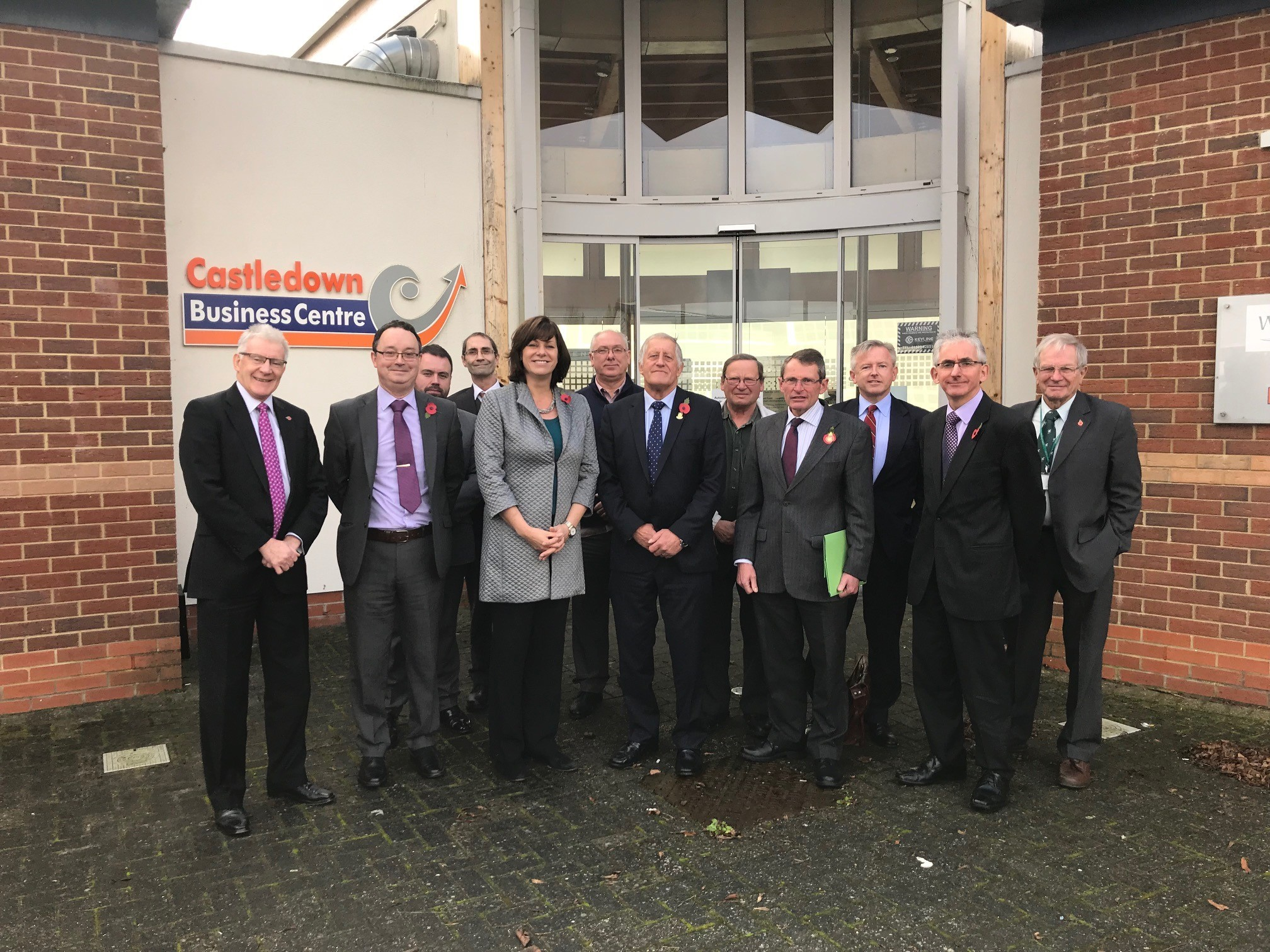 Claire Perry with Ludgershall Rail Group