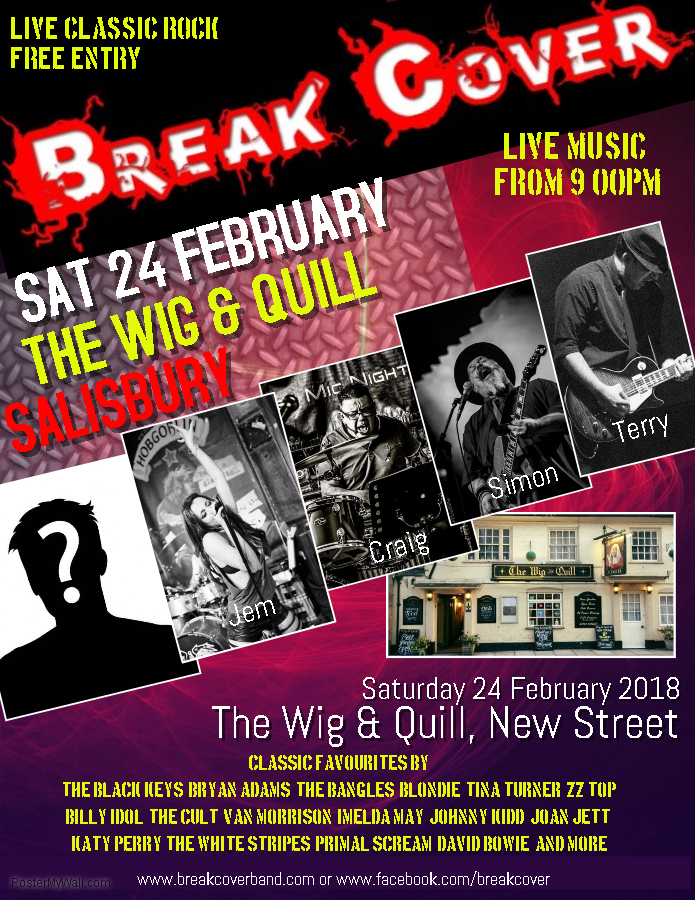 Break Cover live at the Wig & Quill