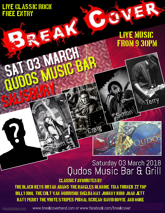 Break Cover live at Qudos Music Bar & Grill